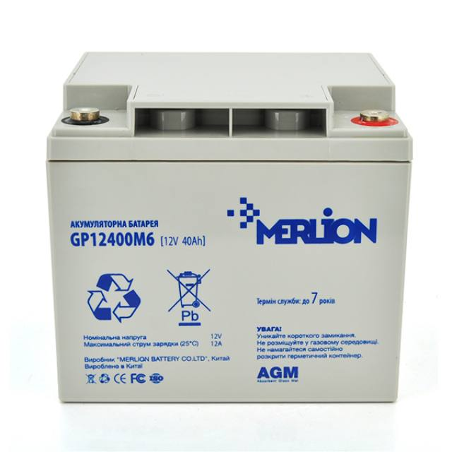MERLION AGM GP12400M6 12v 40ah