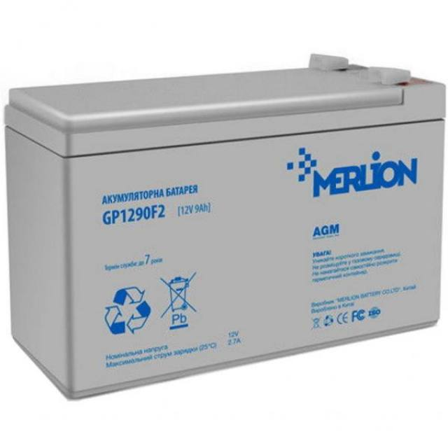MERLION AGM GP1290F2 12v 9ah